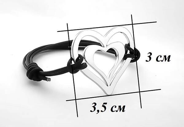 двойно сърце размер