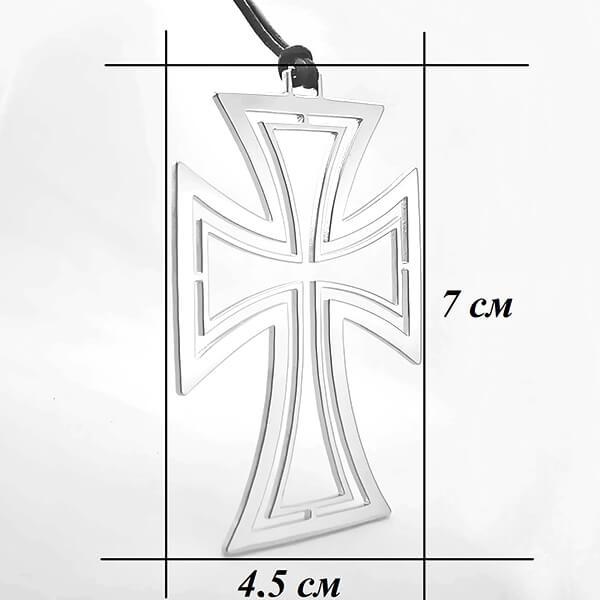 кръст с кожа размер